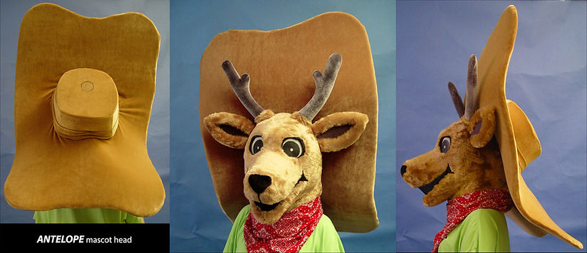 Facemakers Antelope Mascot Costumes