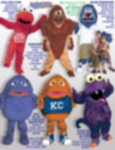 Facemakers Monster Mascot Costumes