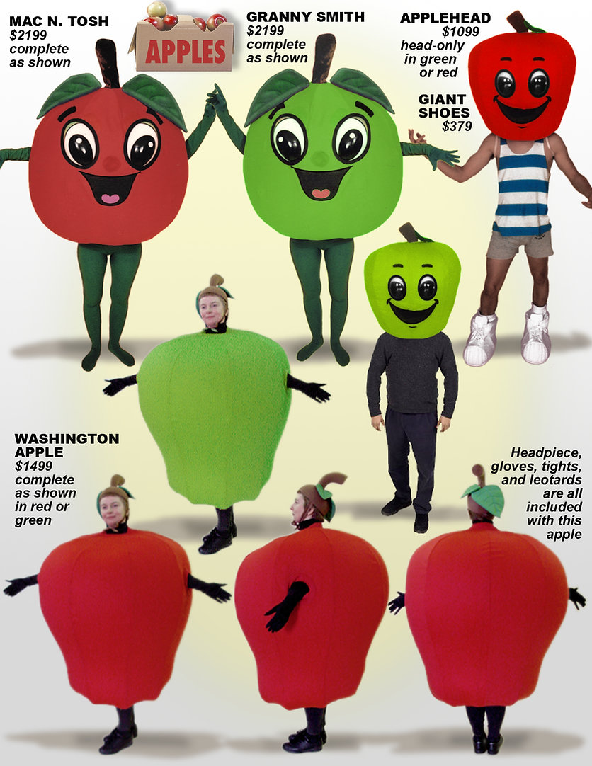 Facemakers Apple Mascot Costumes