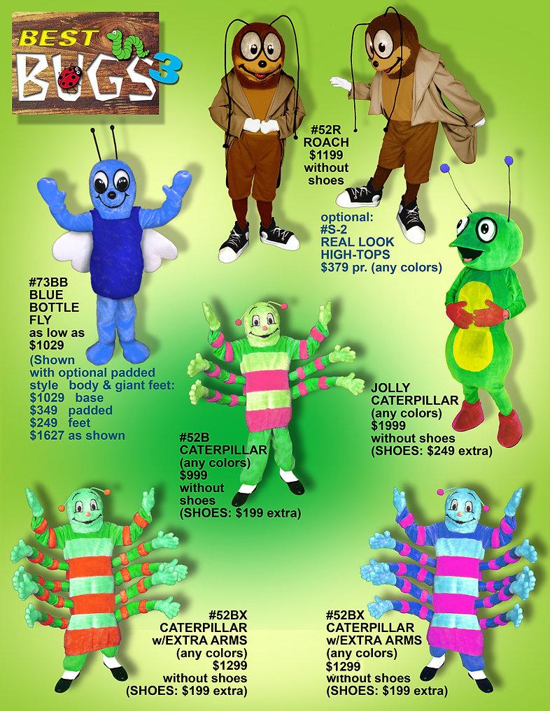 Facemakers Caterpillar Mascot Costumes