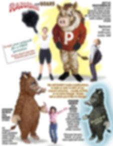 Facemakers Boar & Razorback mascot costumes