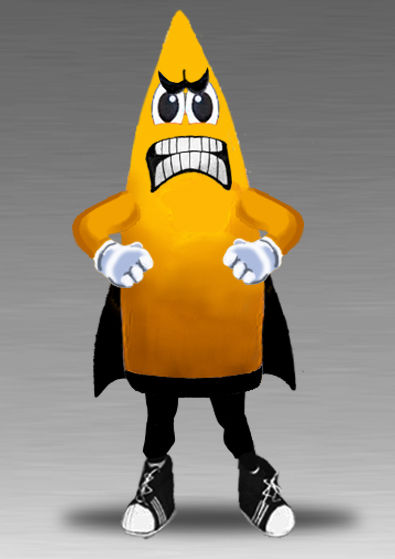 Missile rocket mascot costume for your school
