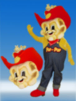 Facemakers Popcorn Mascot Costume