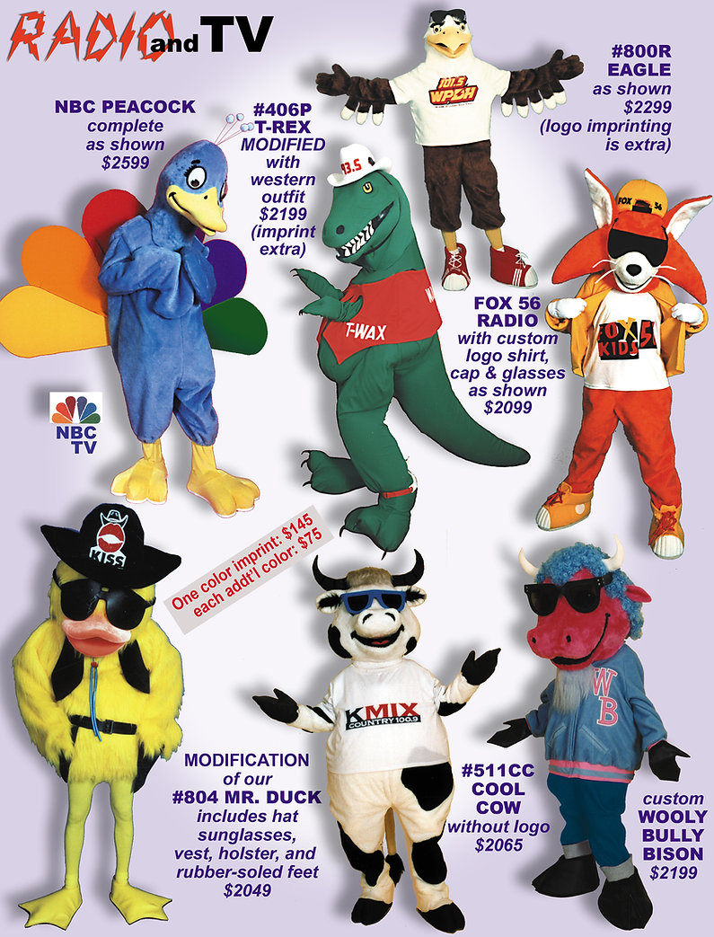 Facemakers Radio Station Mascot Costumes