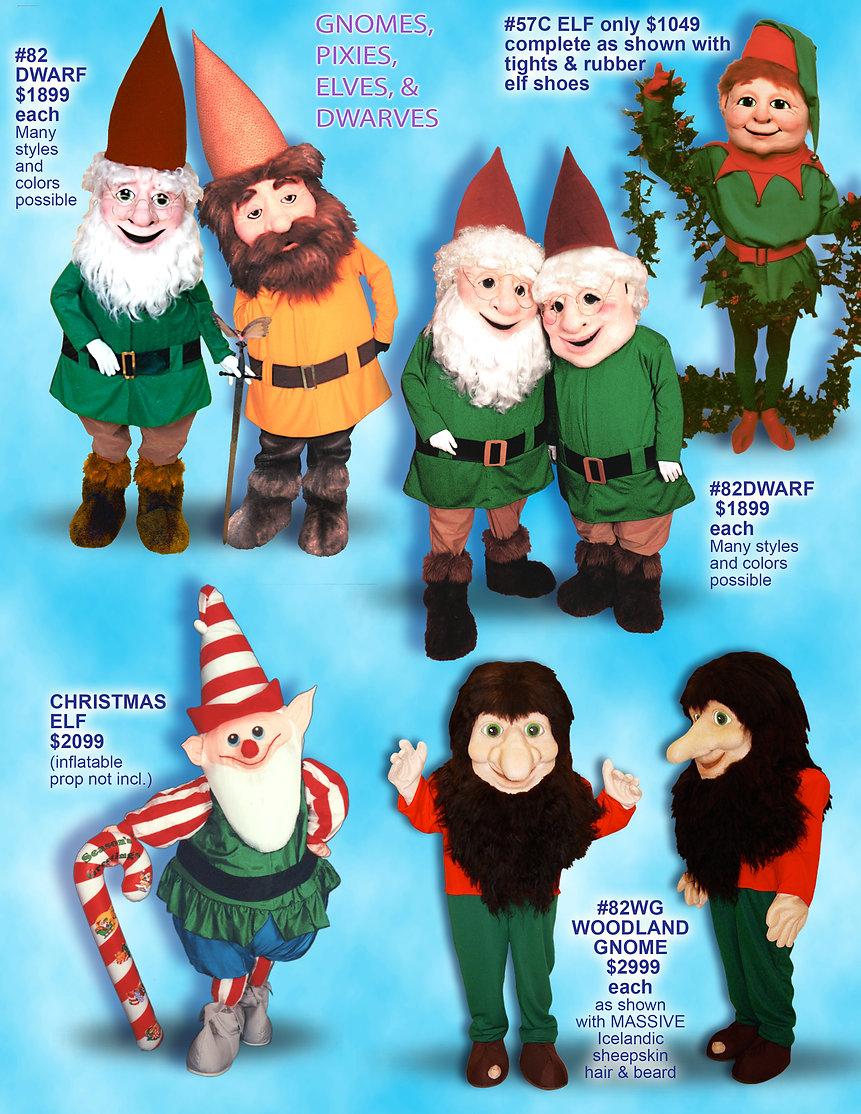 72389d0c88e Facemakers Dwarf-Elf Mascot Costumes