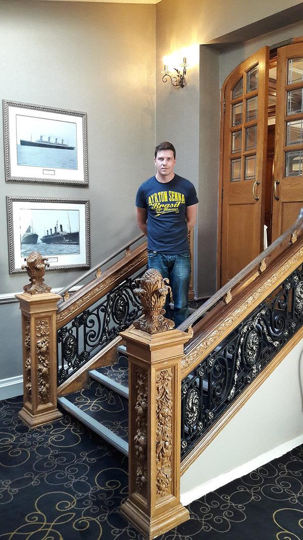 Benjamin Kreft at the White Swan Hotel in Alnick England
