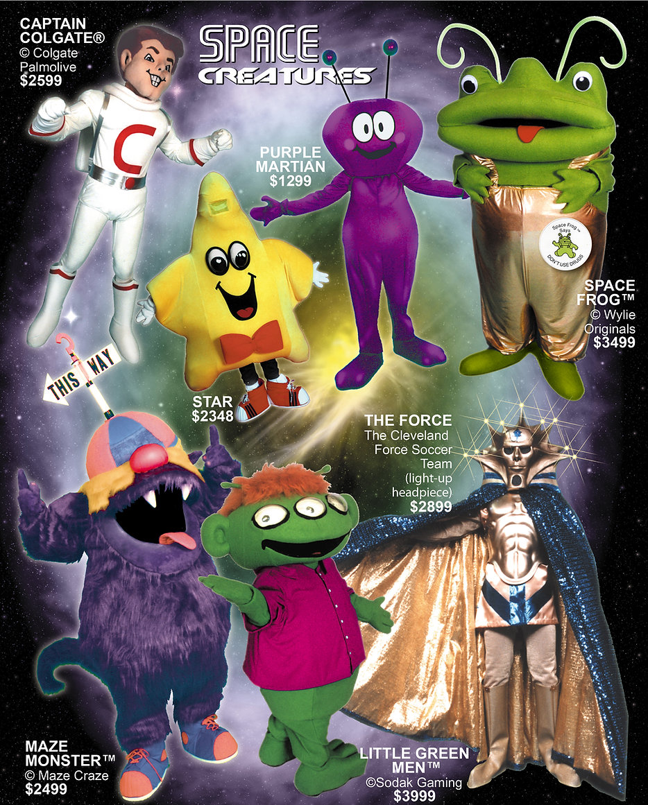 Facemakers Outer Space Mascot Costumes