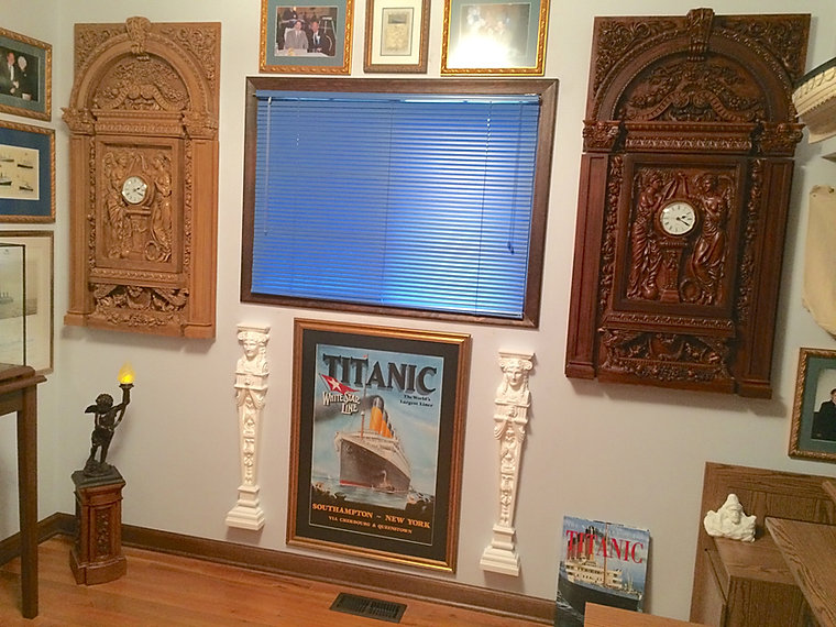 Titanic collection owned by James Van Dusen