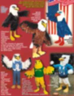 Facemakers eagle mascot costumes