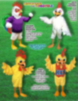 Facemakers chicken-rooster Mascot Costumes