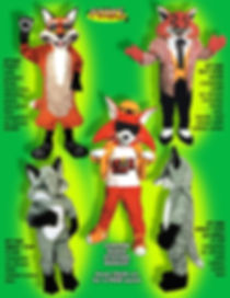 Facemakers fox mascot costumes