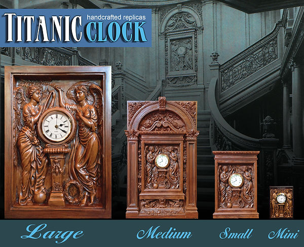 RMS Titanic sculptor Alan St George's replicas from the Grand Staircase. Welcome to our exciting collectibles!