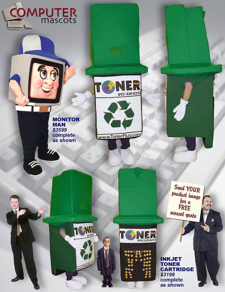 Facemakers Computer Mascot Costumes