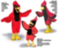 Cardinal mascot costumes
