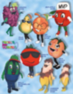 Facemakers Fruit-Veggie Mascot Costumes