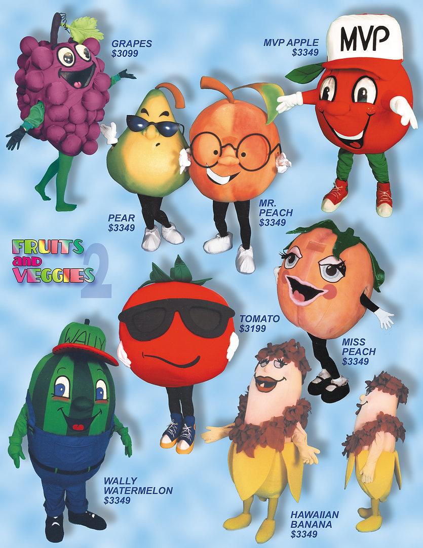 Facemakers Fruit-Veggie Mascot Costumes
