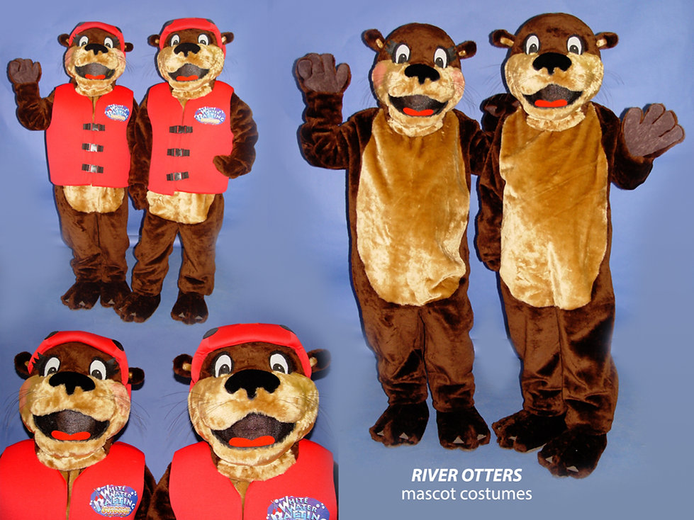 Facemakers Otter Mascot Costumes