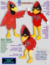 Facemakers Cardinal Mascot Costumes