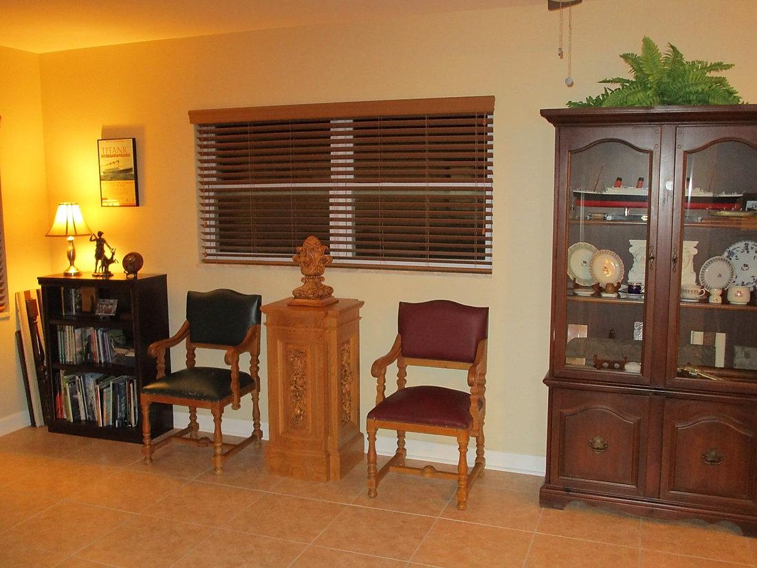 Titanic collector, Sean Hankins, Tampa, FL formal sitting room.