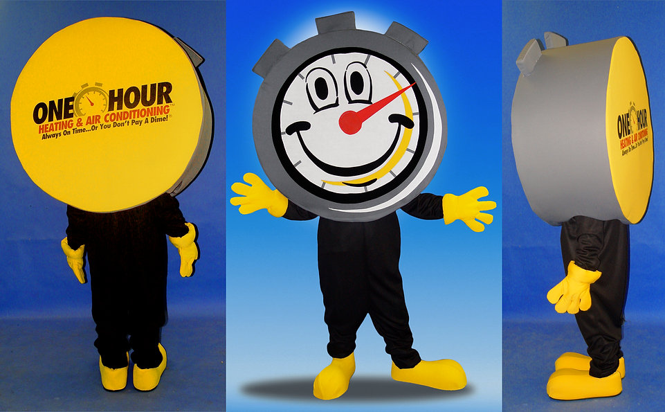 Facemakers Stopwatch Clock Mascot Costume
