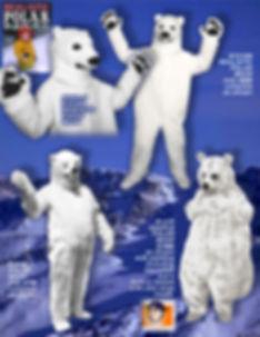 Facemakers Polar Bear Mascot Costumes