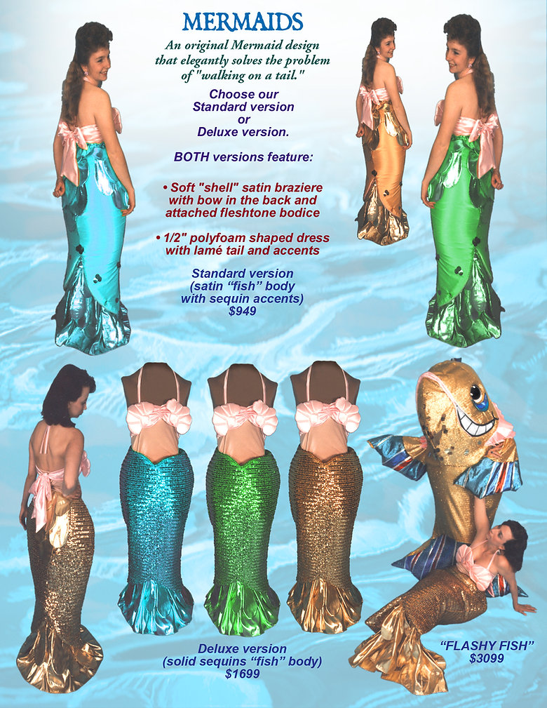 Facemakers Mermaid Mascot Costumes