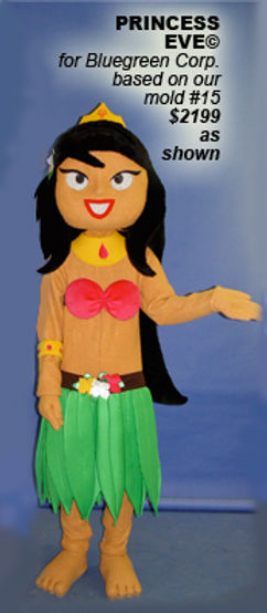 Facemakers Girl Mascot Costumes