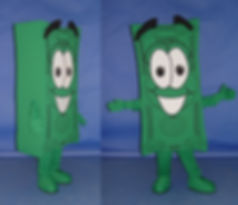 Facemakers Money Mascot Costumes