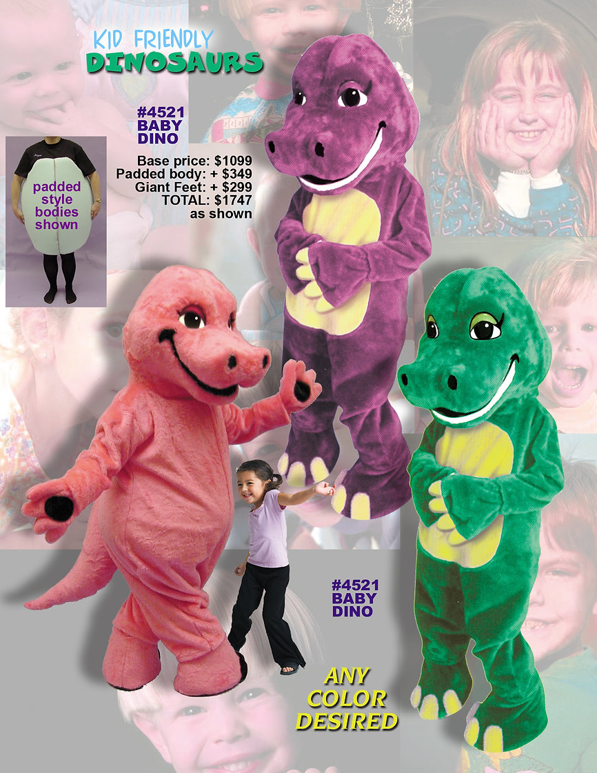 Facemakers Dinosaur mascot costumes