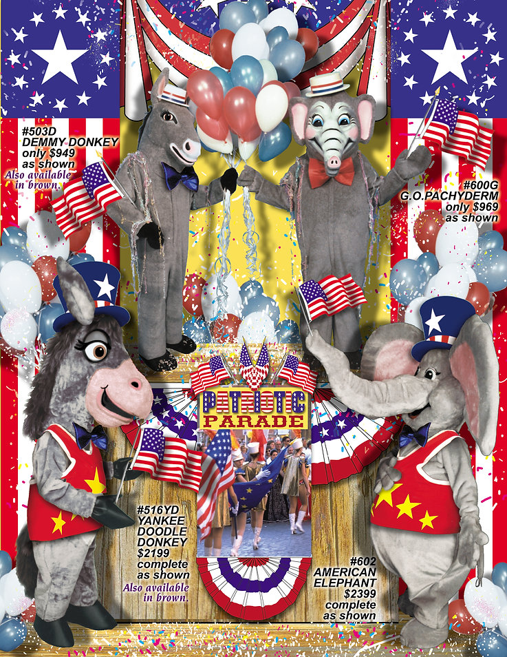 Facemakers Political Mascot Costumes