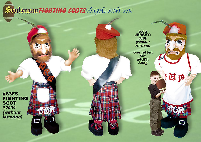 Facemakers Fighting Scots Mascot Costumes