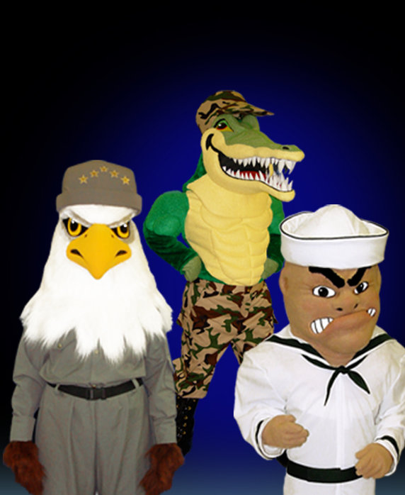 Facemakers military mascot costumes