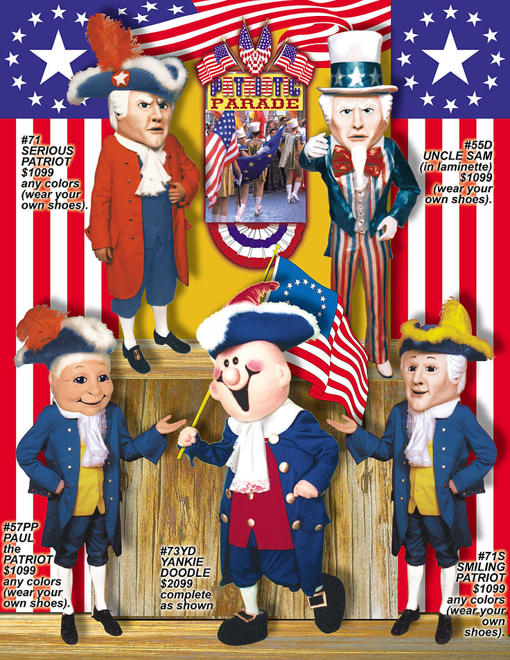 Facemakers Patriot Mascot Costumes