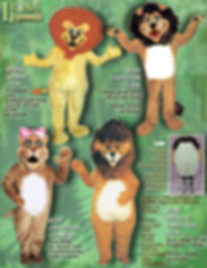 Facemakers Lion Mascot Costumes