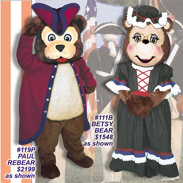 Facemakers Patriotic Bear Mascot Costumes