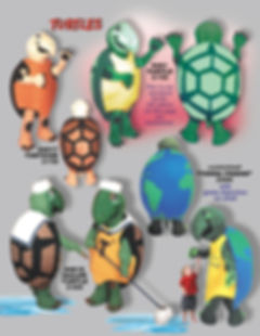 Facemakers turtle mascot costumes terra friend