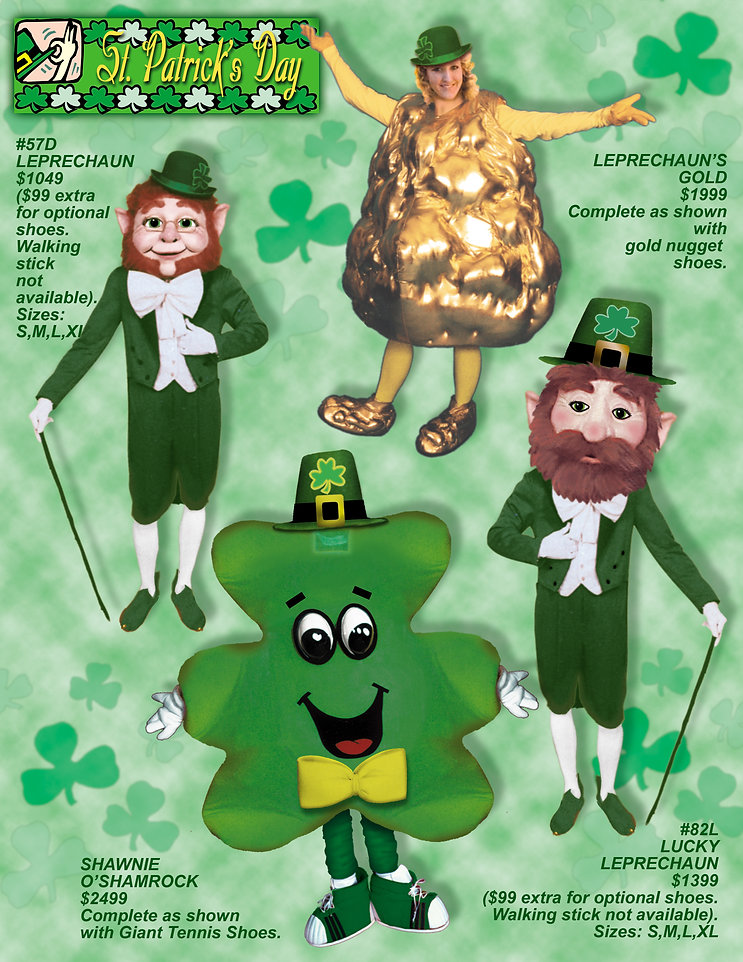 Facemakers Leprechaun Mascot Costumes