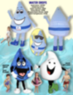 Facemakers Water Drop Mascot Costumes