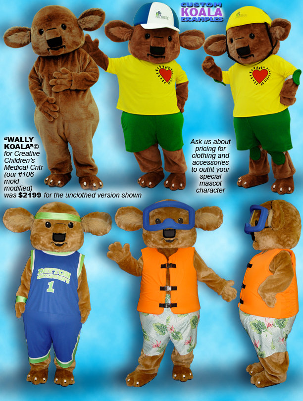 Facemakers Koala Bear Mascot Costumes