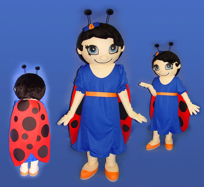 Facemakers Lady Bug Mascot Costumes