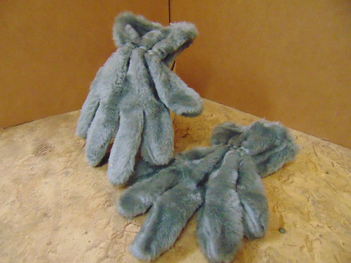 Gray Plush Gloves