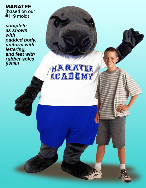 Facemakers Manatee Mascot Costumes