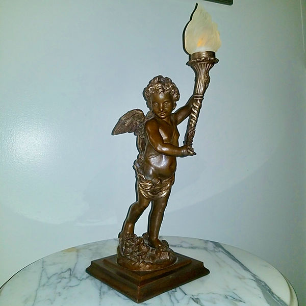 Adam Bathon Titanic collector's bronze cherub by Alan St George.jpeg