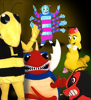Bee, hornet and bug mascot costumes