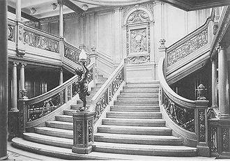 Titanic's Grand Staircase was among the ship's most lavish interior spaces.
