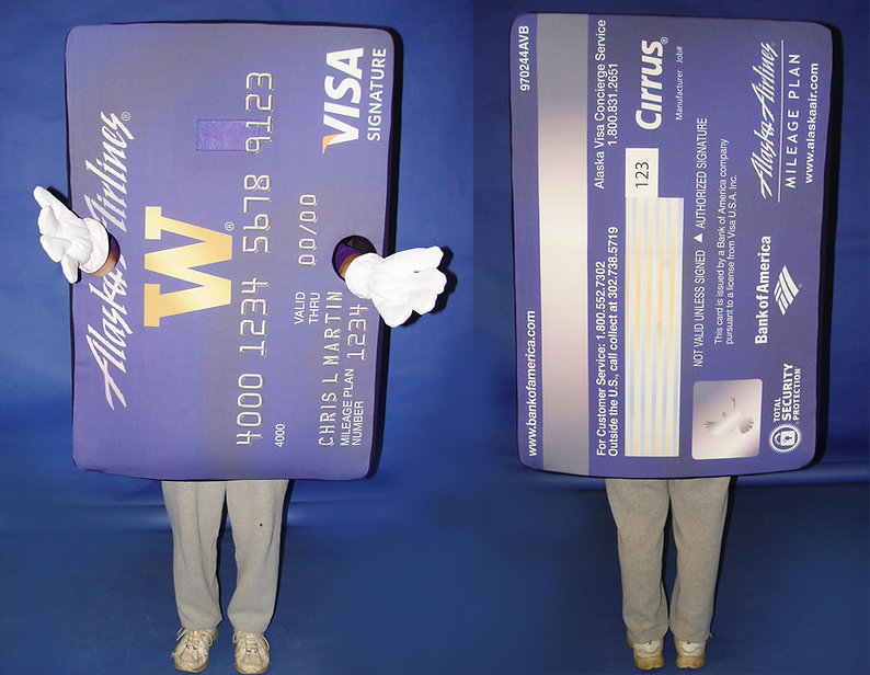 Facemakers Bank Card Mascot Costumes