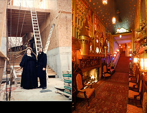 Mr and Mrs Alan St George building the Medieval Hall at Havencrest Castle, Savanna, IL