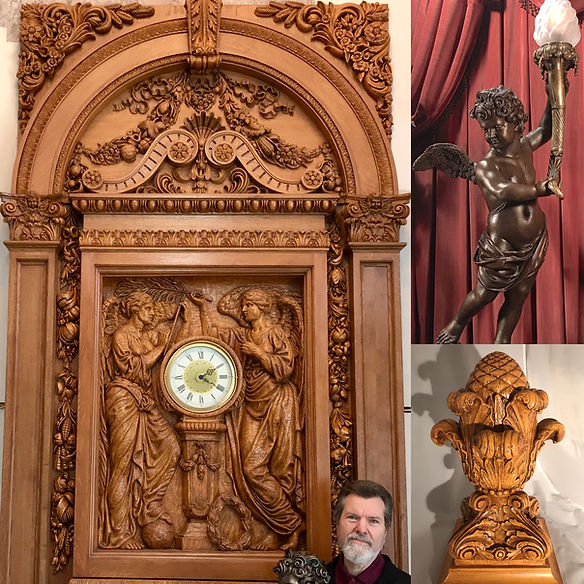 Artistic elements of the Memorial Hall at Havencrest Castle include full-sized RMS Titanic replica sculptures by Alan St. George64-BB71-9BCD38CE6668.jpe
