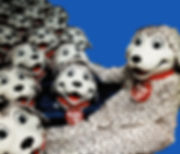 Facemakers Happy Joe's Dalmatian mascot costumes