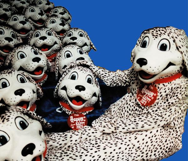 Facemakers Happy Joe's Dalmatian mascot costumes